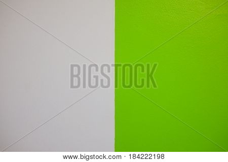 Green and white cement wall and texture background