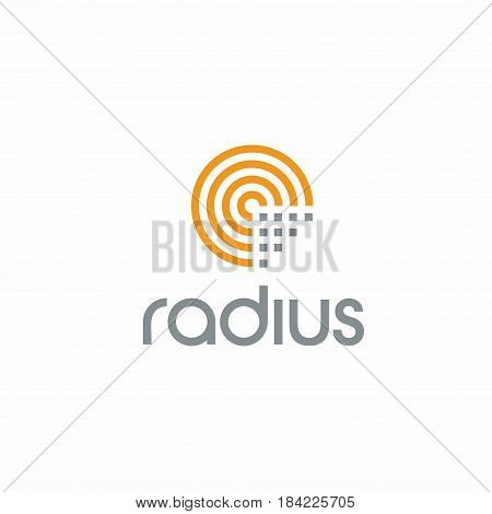 Creative Radius Technology logo concept design with circle shapes modern and professional feel. Very nice for brand identity .