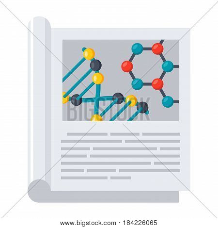 Scientific journal, vector illustration in flat style