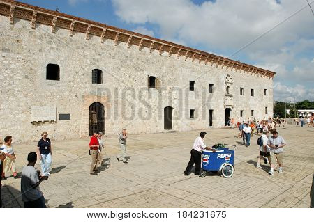 Colonial Building Of Las Casas Reales At Santo Domingo