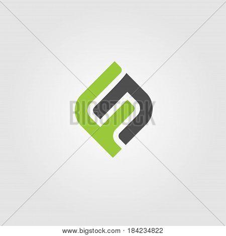 Creative Letter FN Logo concept design templates