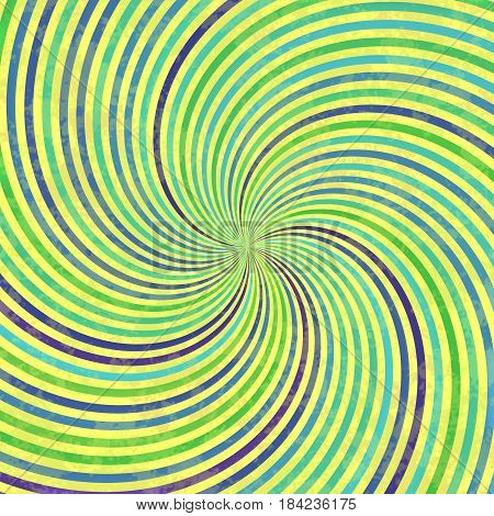 Colorful Rotating Lines Making Whirl Shape