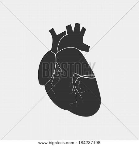 heart human icon - vector eps 10