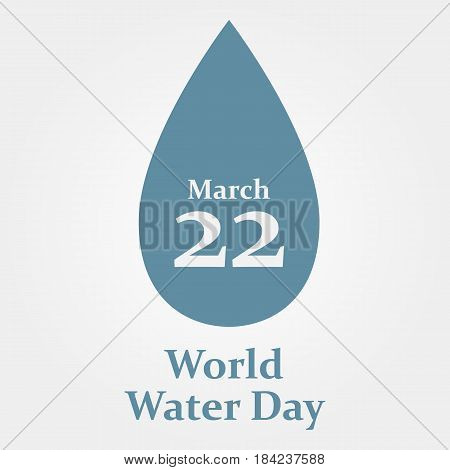 water day world - 22 march - vector eps 10