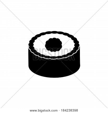 Sushi solid icon, food drink elements, seafood sign, a filled pattern on a white background, eps 10.