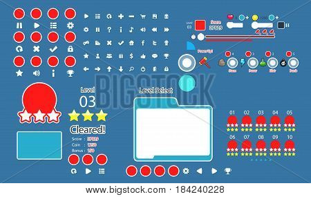 Complete set of graphical user interface (GUI) to build games and applications