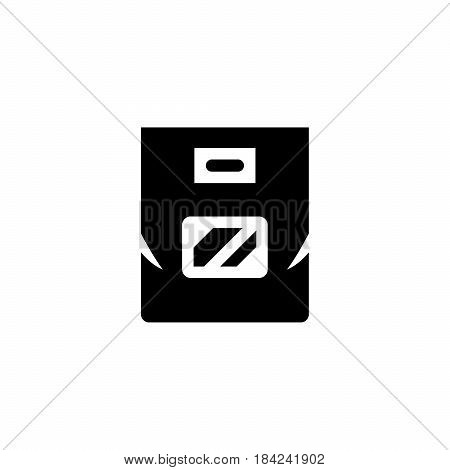 Plastic bag icon isolated on white. Vector illustration