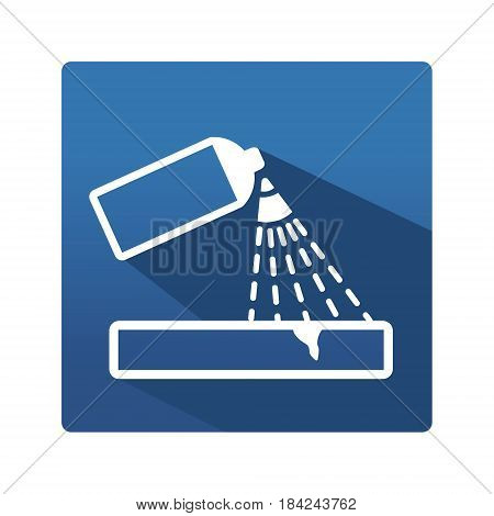 Capillary control pictogram. Industrial icon in trendy flat style on blue background. Capillary control pictogram for your web site design, logo, app. Vector illustration, EPS10