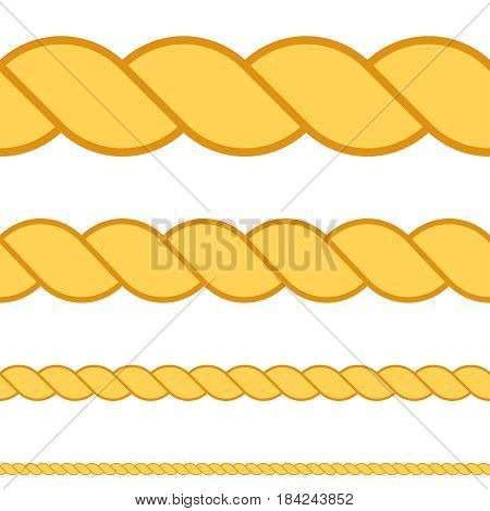 Seamless rope vector macro thread texture rope eps 10 set
