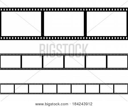 seamless film strip filmstrip vector set of retro film line cinema