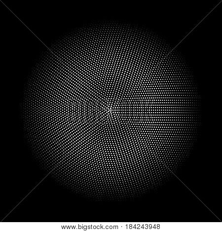 Doted halftone gradient isolated on dark vector illustration half tone