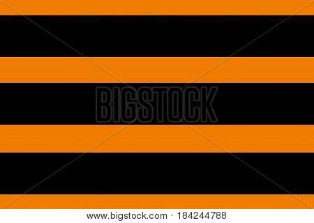 The flag of St. George (guards) ribbon. Black and orange alternating stripes. Vector illustration.