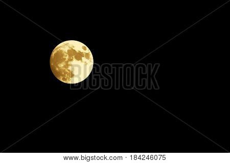 Full moon in the night. Astrotheme planets and starry sky. The scene with the round luna. The mystical nature time.