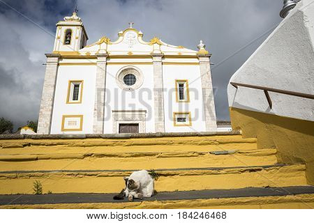 Parish church of the Saviour of the World in Veiros town, Estremoz, Portugal