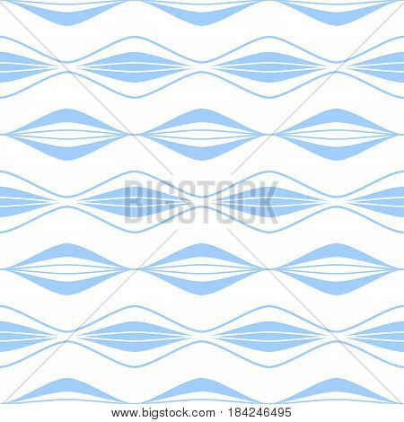 Seamless blue and white pattern. Ongoing vector background.