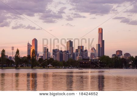 Melbourne evening CBD