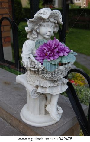 Girl Garden Ornament