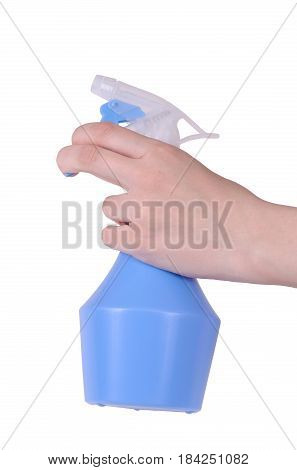 Handheld water pulverizer isolated on white background.