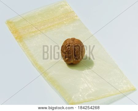 High calorie food enclosed in its shell.