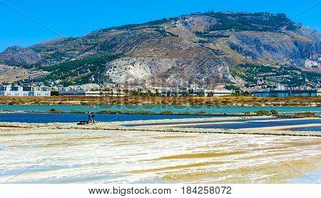 The Salt Flats of Trapani Sicily Italy