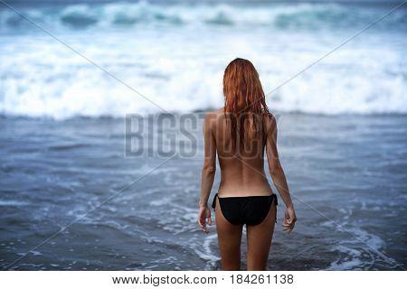 Famara beach a beach for surfers. Lanzarote Canary Islands Spain
