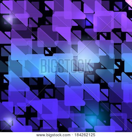 Abstract modern original background with translucent triangles. Fashion geometric light design. Vector Illustration