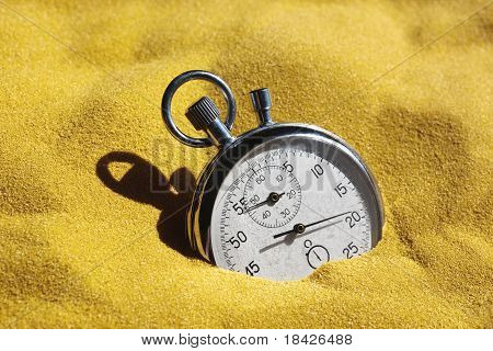Stopwatch In Sand