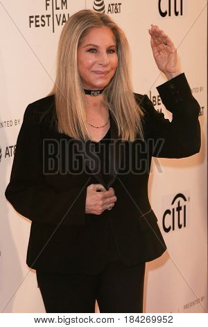 Singer Barbra Streisand attends the 'Tribeca Talks Storytellers: Barbra Streisand with Robert Rodriguez' at BMCC at PAC during the 2017 TriBeCa Film Festival on April 29, 2017 in New York City.