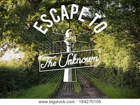 Escape To The Unknown Explore Graphic Pattern Banner