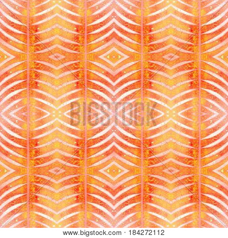 Abstract shapes seamless pattern. Repeat geometric background. Textured grunge geometric background for wallpaper gift paper fabric print furniture. Regularly repeating tiles with arched rhombuses.