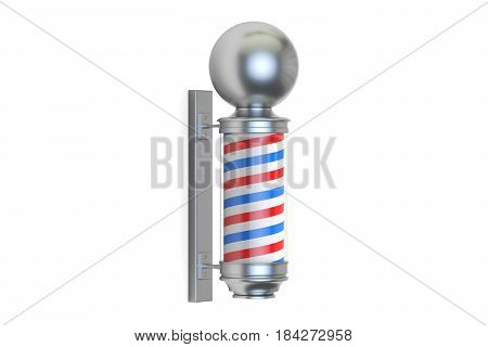 Barbershop Pole 3D rendering isolated on white background
