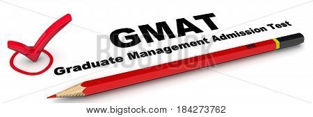 GMAT. Graduate Management Admission Test. The check mark