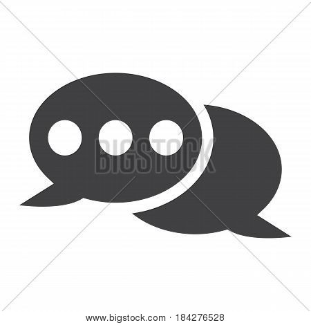 Speech bubble solid icon, chat and website button, vector graphics, a filled pattern on a white background, eps 10.