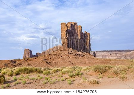 Camel Butte Is A Giant Sandstone Formation In The Monument Valley
