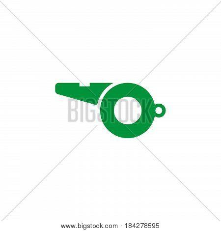 whistle icon isolated on white background .