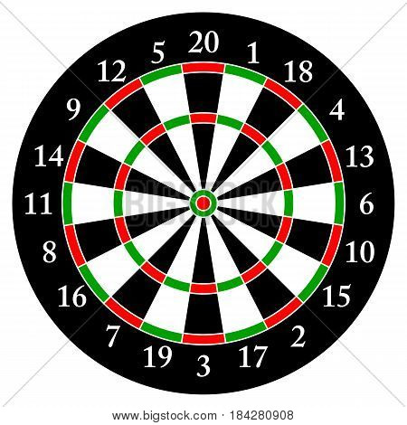 Darts. Target for darts Isolated object. White background.Vector illustration