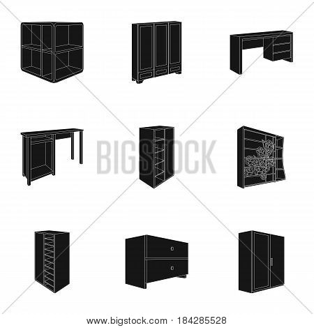 The set of images on the theme of sleep and rest. Different beds for every taste and color.Bed icon in set collection on black style vector symbol stock web illustration.