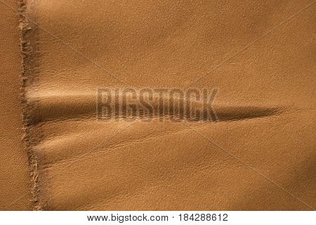 Light Brown Leather Texture Background For Designers.