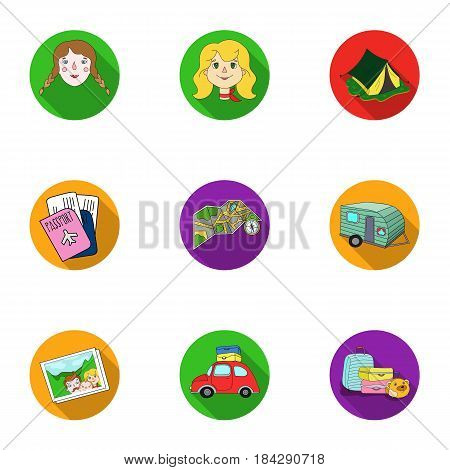 Family, family traditions, recreation. Family life.Family holiday icon in set collection on flat style vector symbol stock web illustration.