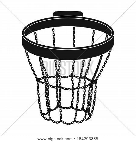 Basketball hoop.Basketball single icon in black style vector symbol stock illustration .