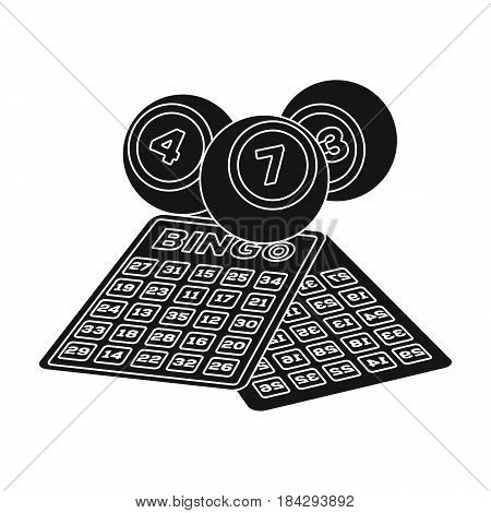 Lottery.Old age single icon in black style vector symbol stock illustration .