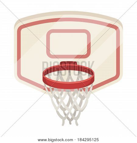 Shield with basket.Basketball single icon in cartoon style vector symbol stock illustration .