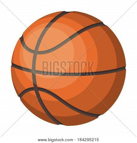 basketball.Basketball single icon in cartoon style vector symbol stock illustration .