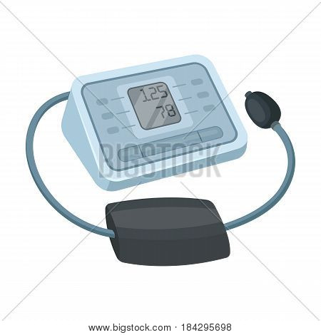 Medical tonometer.Old age single icon in cartoon style vector symbol stock illustration .