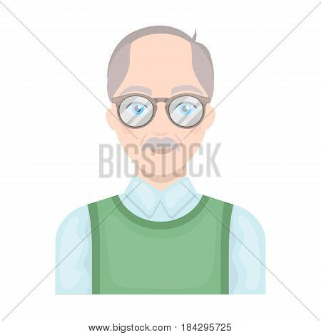 Old man.Old age single icon in cartoon style vector symbol stock illustration .