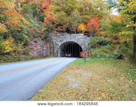 Fall in the mountains and a tunnel to take you home.