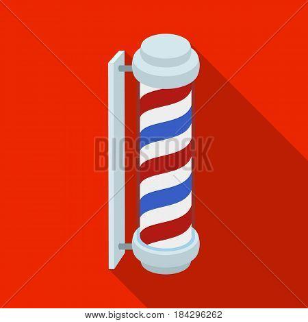 Barber logo.Barbershop single icon in flat style vector symbol stock illustration .