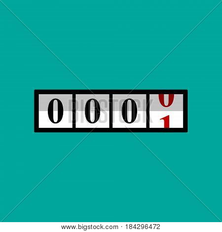 Counter with numbers vector isolated flat color illustration.