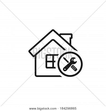 Home repair icon vector isolated outline service symbol.