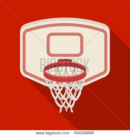 Shield with basket.Basketball single icon in flat style vector symbol stock illustration .